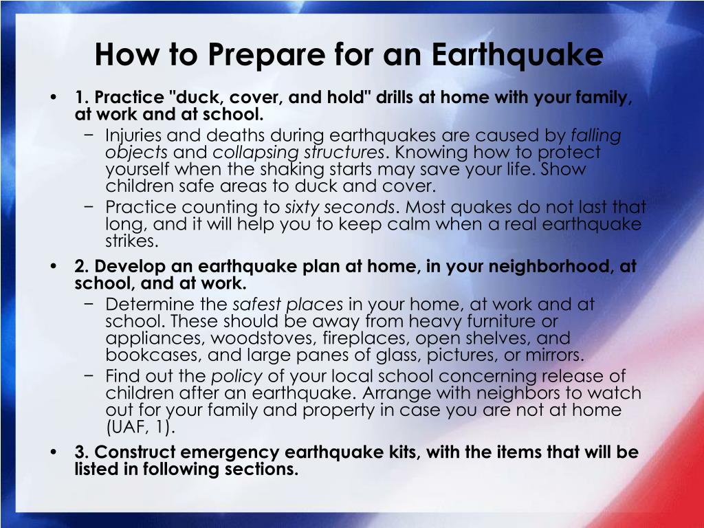 Ppt children and earthquakes protective measures for for Where to go in an earthquake