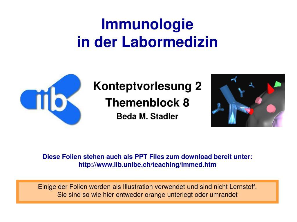 immunologie in der labormedizin l.
