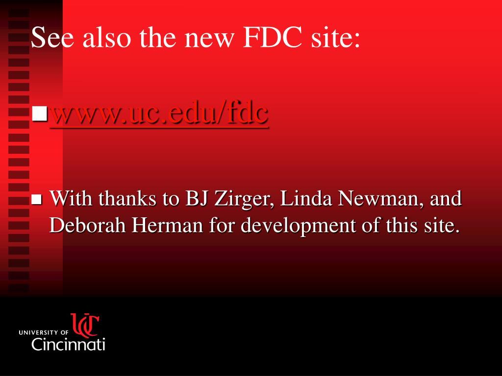 www.uc.edu/fdc