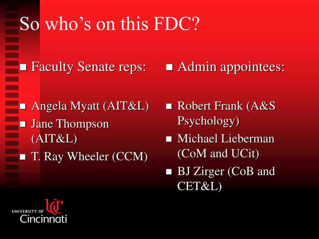 Faculty Senate reps: