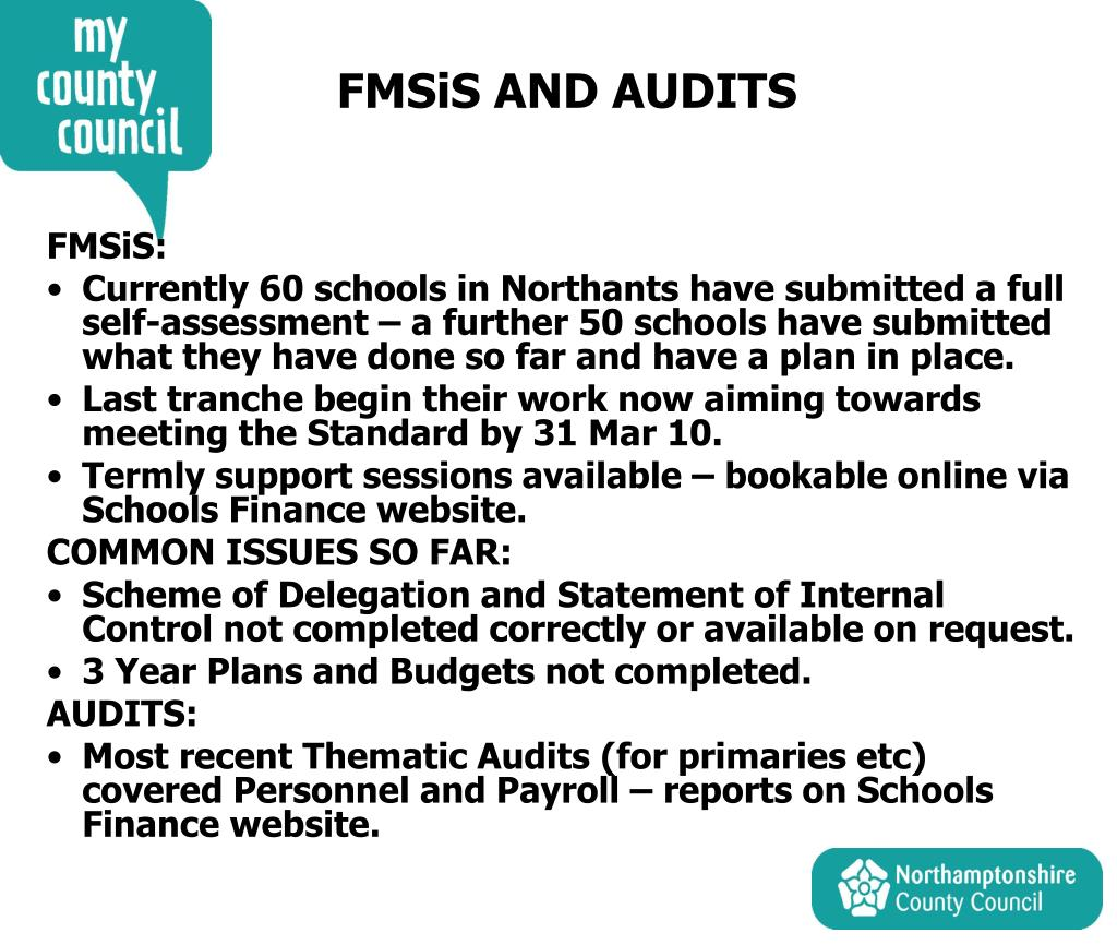 FMSiS AND AUDITS