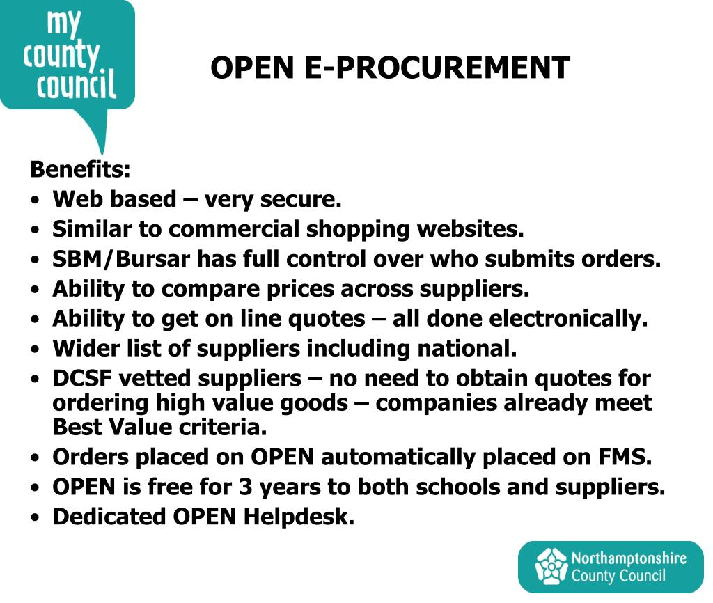 OPEN E-PROCUREMENT