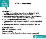 pay benefits