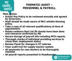 thematic audit personnel payroll