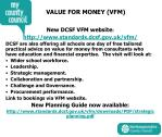 value for money vfm