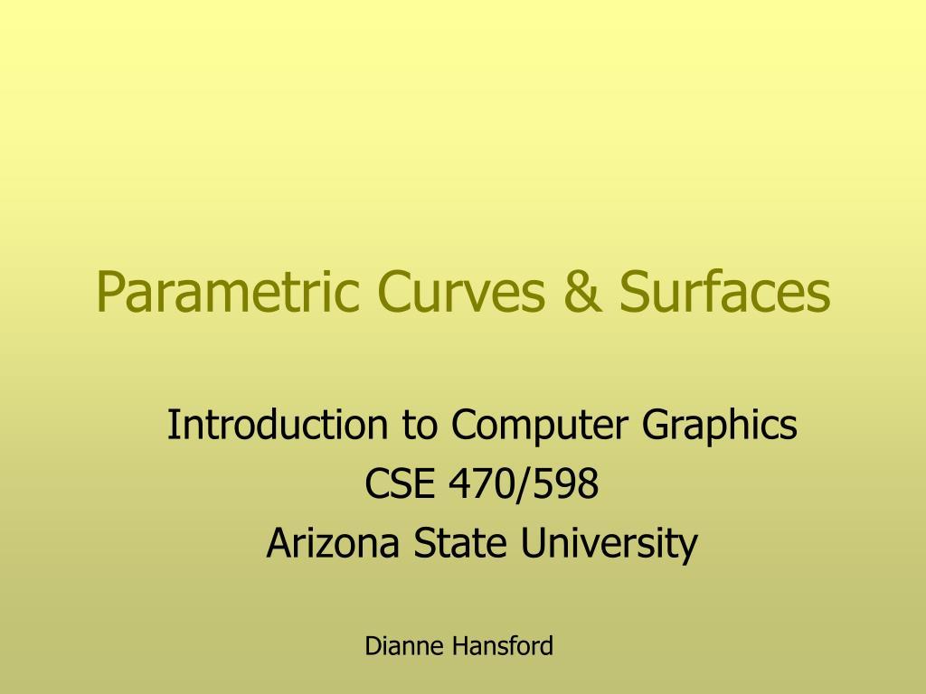 parametric curves surfaces l.