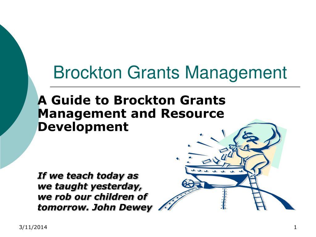 brockton grants management l.