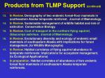 products from tlmp support continued59