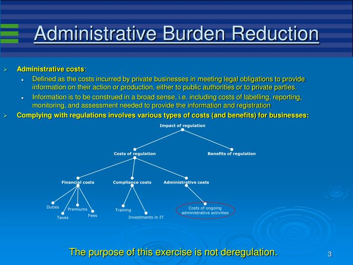 Administrative burden reduction3