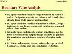 boundary value analysis