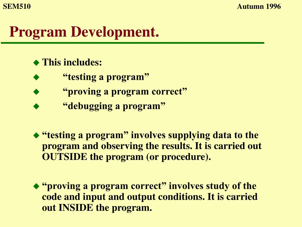 program development l.
