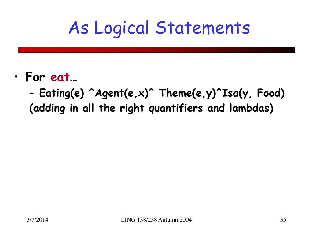 As Logical Statements