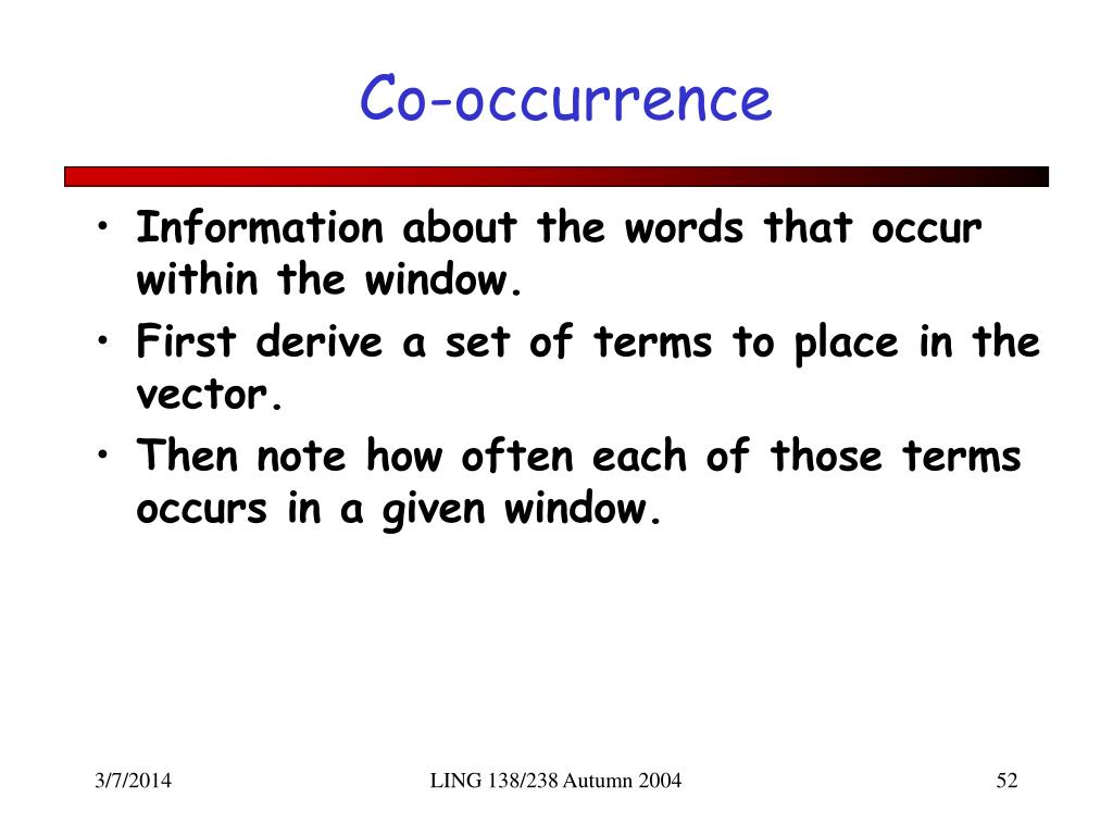 Co-occurrence