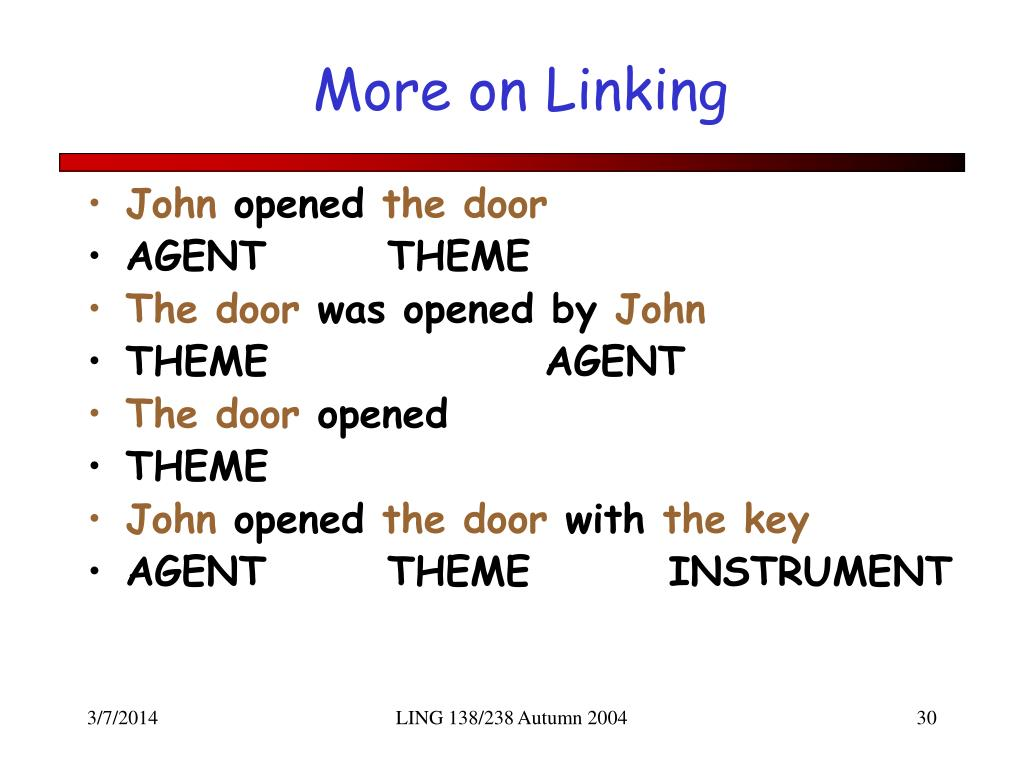 More on Linking