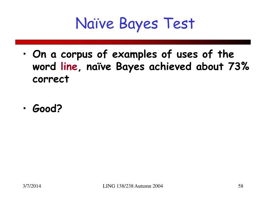 Naïve Bayes Test