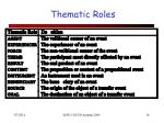 thematic roles26