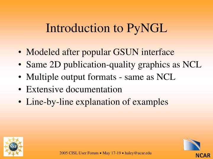 Introduction to PyNGL