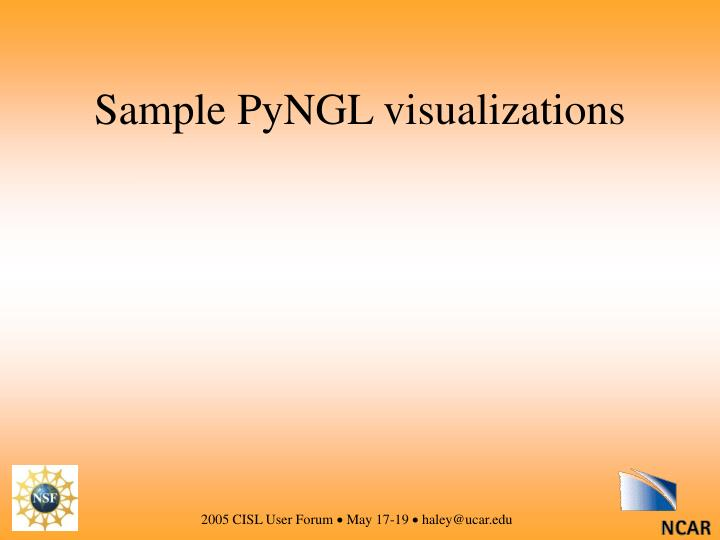 Sample PyNGL visualizations