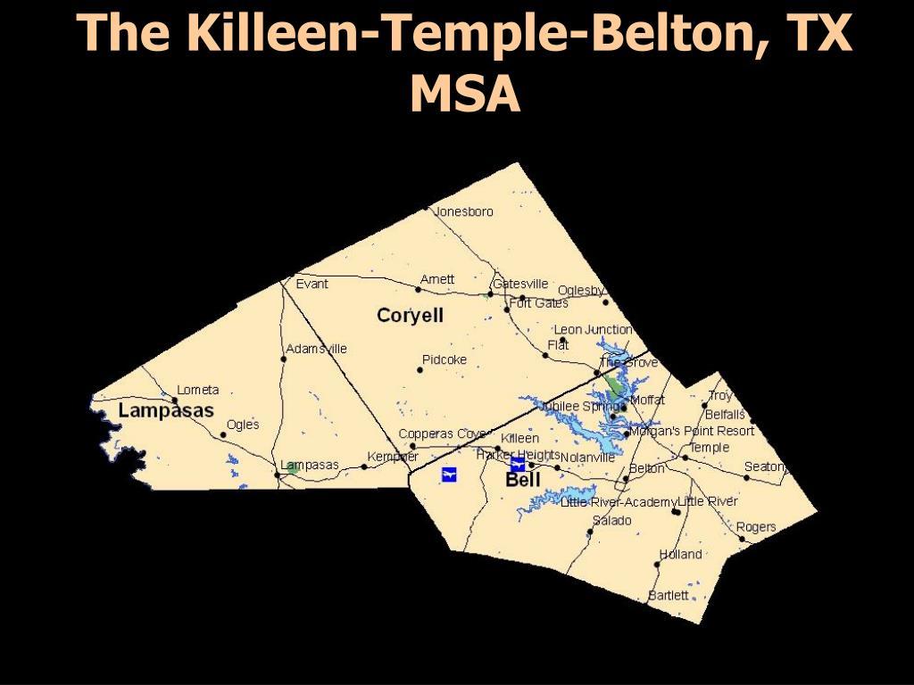 The Killeen-Temple-Belton, TX MSA