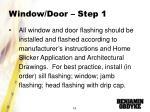 window door step 1