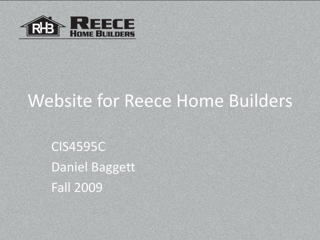 website for reece home builders l.