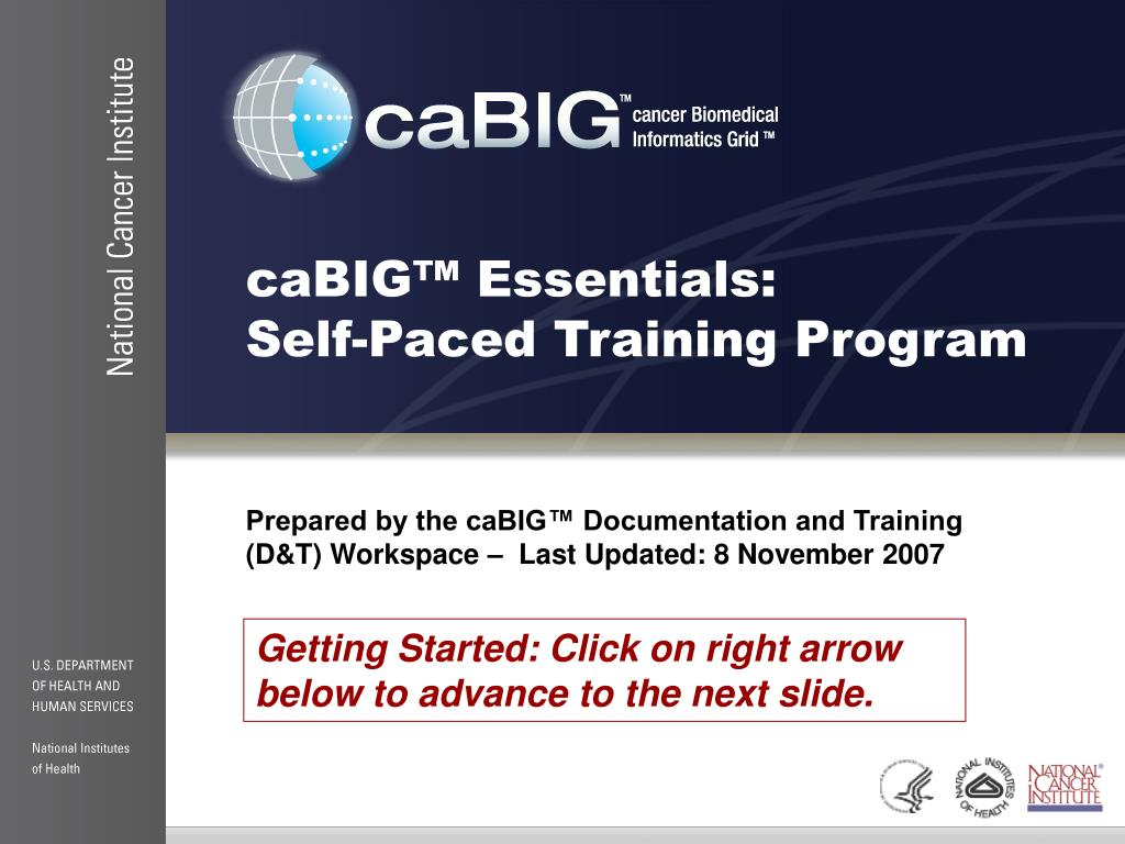 cabig essentials self paced training program l.
