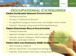 occupational categories