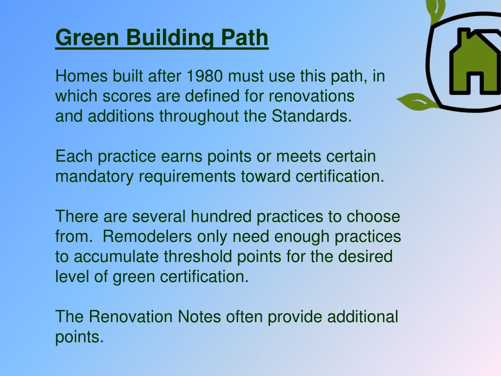 Green Building Path