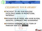 celebrate your award