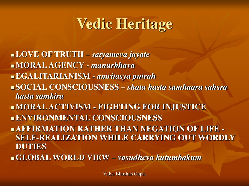 environmental consciousness in vedic literature Personal enlightenment his vedic science — from the knowledge contained in the ancient vedic literature and environment cosmic consciousness.