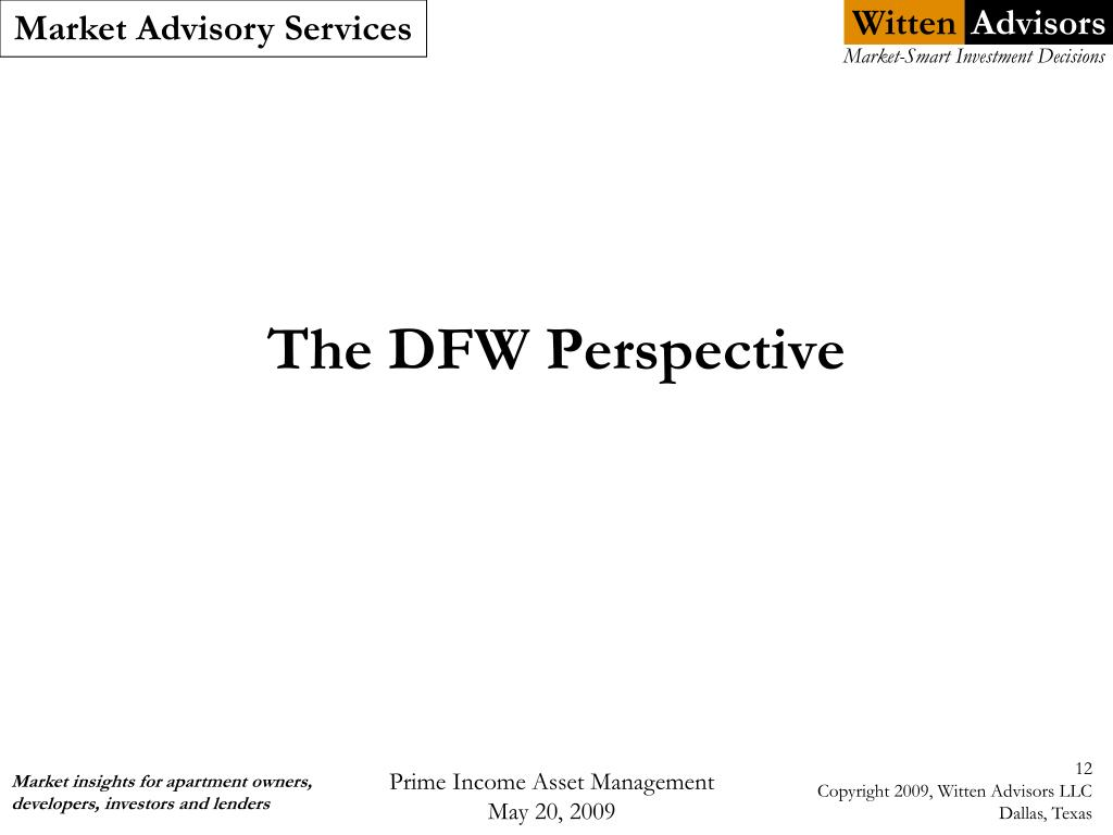 The DFW Perspective