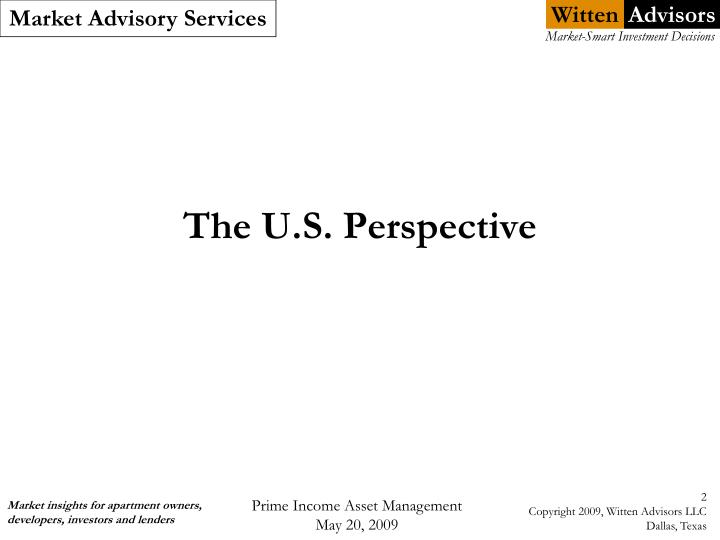 The u s perspective
