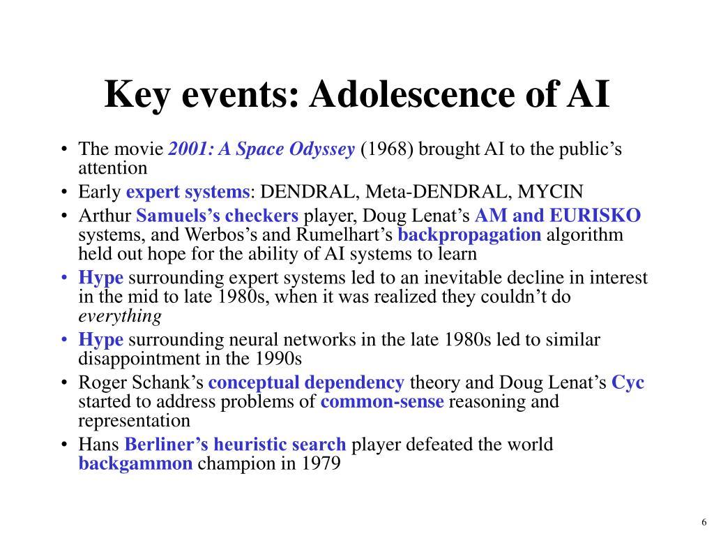 Key events: Adolescence of AI