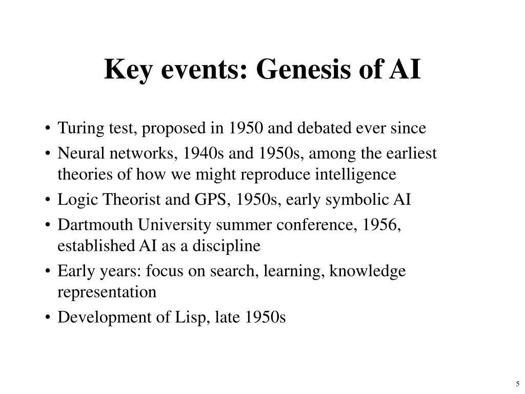 Key events: Genesis of AI
