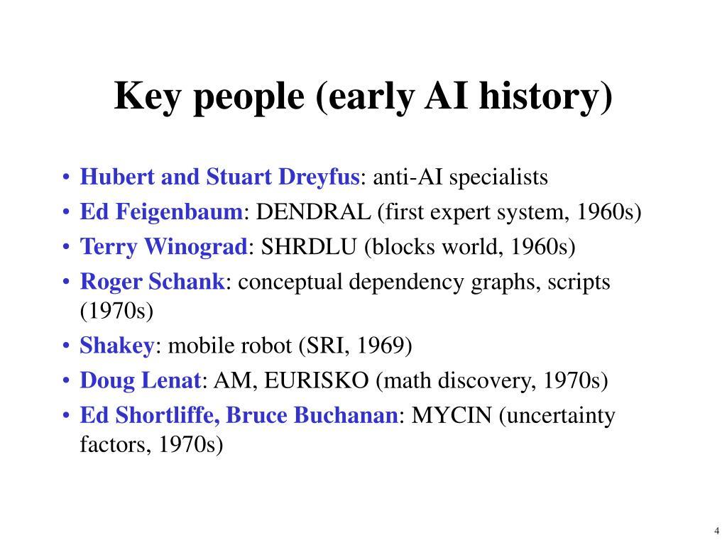 Key people (early AI history)