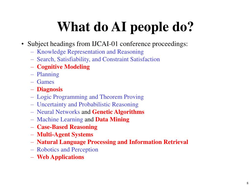 What do AI people do?