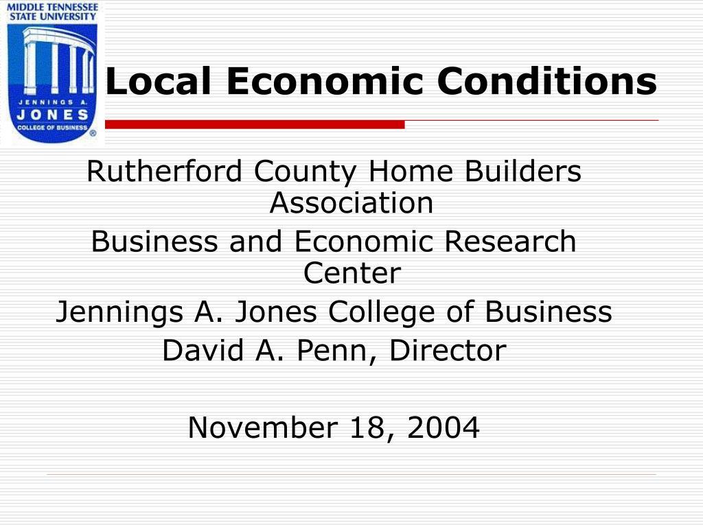 local economic conditions l.