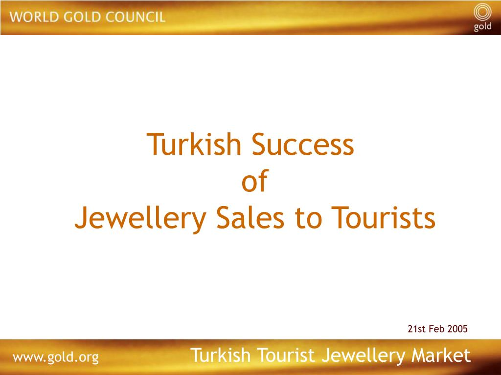 turkish success of jewellery sales to tourists l.