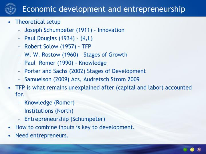 entrepreneurs and economic development