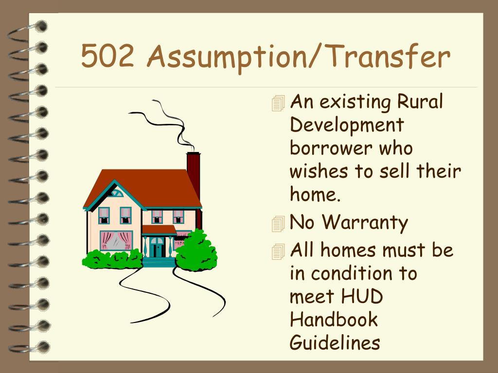 502 Assumption/Transfer