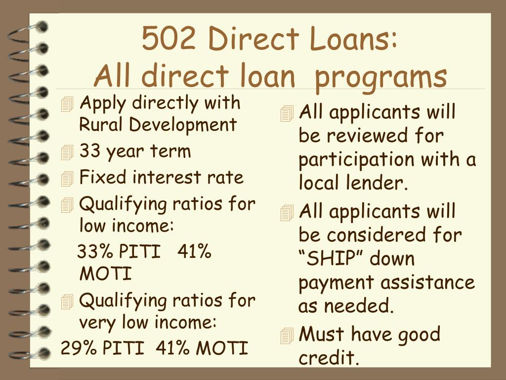 Apply directly with Rural Development