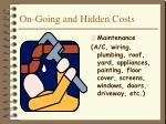 on going and hidden costs7