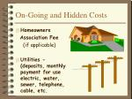 on going and hidden costs8