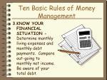 ten basic rules of money management17