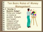 ten basic rules of money management18