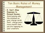 ten basic rules of money management19