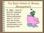 ten basic rules of money management20