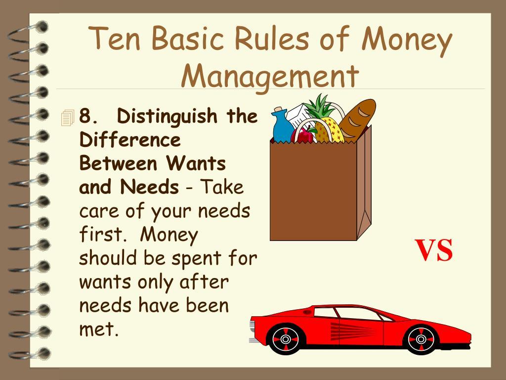 Ten Basic Rules of Money Management