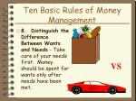 ten basic rules of money management22