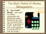 ten basic rules of money management23